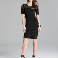 VINCE CAMUTO Grid Stitch Sweater Dress