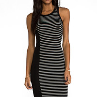 Kain Kidd Dress in Black with Black & White Stripe from REVOLVEclothing.com