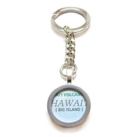 Hawaii Map Pendant Keychain