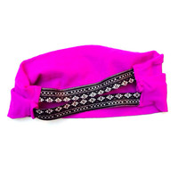 Workout Absorbent Fitness Yoga Gym Wide Neon Purple Headband Headache Free Stretch Bandeau Style Comfortable
