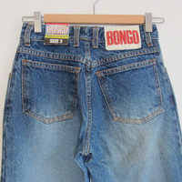 Vintage 90s BONGO Backstock New High Waisted Blue Jeans