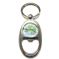 Santa Barbara California Map Bottle Opener Key Chain