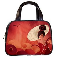 Sakura Asian Geisha Classic Handbag (One Side)