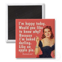 baked darling fridge magnets from Zazzle.com