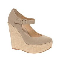 ASOS | ASOS PANSY Mary Jane Platforms With Raffia Wedge Heel at ASOS
