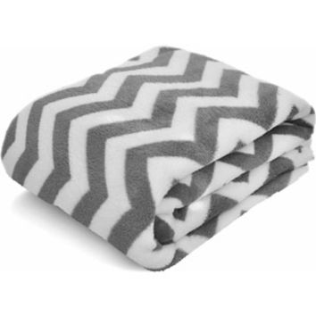 "Walmart: Mainstays Microplush 50"" x 60"" Throw, Chevron Grey"