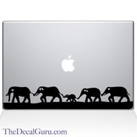Elephant March Macbook Decal