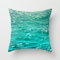 SIMPLY SEA Throw Pillow by Catspaws
