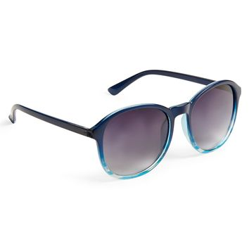 Preppy Round Stripe Sunglasses