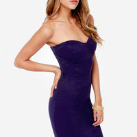 LULUS Exclusive Give Me a Bustier Indigo Blue Bodycon Dress