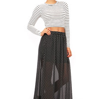 Polkadot Falls Maxi Skirt | Trendy Skirts at Pink Ice