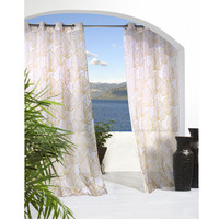 Biscayne Banana Leaf All-Weather Sheer Panels
