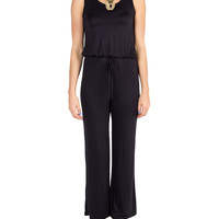 Drawstring Simple Jumpsuit