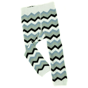FOOTLESS TIGHTS - CHEVRONS GRAY/BLACK