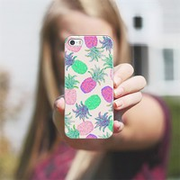 Pineapple Pandemonium Pink Punch iPhone 5s case by Lisa Argyropoulos | Casetagram