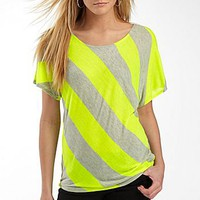 Alyx® Neon Stripe High-Low Top                     : wear to work : women : jcpenney