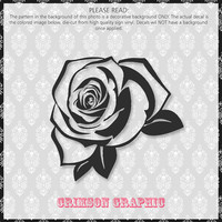 Tattoo Rose Derby Helmet || Vinyl Decal