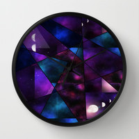 Cosmic Glass Wall Clock by DuckyB (Brandi) | Society6