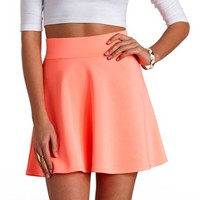 HIGH-WAISTED SKATER SKIRT