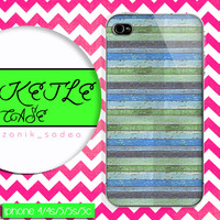 mint stripe wood case, wood iphone case, iphone 4 case iphone 5c case, samsung gaxaly S3 case, samsung gaxaly S4 case