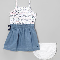 White Anchor Dress - Toddler & Girls | Daily deals for moms, babies and kids