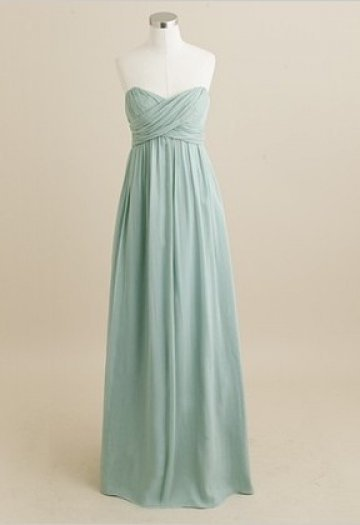 Sweetheart Floor Length Bridesmaid Dress with Wrinkle