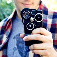 rotating camera lens iphone case