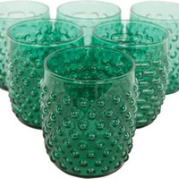 Green Glassware, Set of 6 - One Kings Lane - Vintage & Market Finds - Tabletop