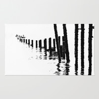 MONO SEA Area & Throw Rug by Catspaws | Society6