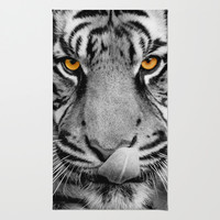 TIGER PORTRAIT Area & Throw Rug by Catspaws | Society6