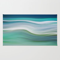OCEAN ABSTRACT Area & Throw Rug by Catspaws | Society6