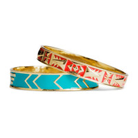 H&M - 2-pack Bangles - Gold - Ladies