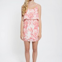 White Racer Back Paisley Dress
