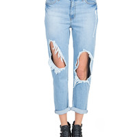 Open Knees Boyfriend Jeans