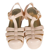 Platform Jelly Sandals - Nude