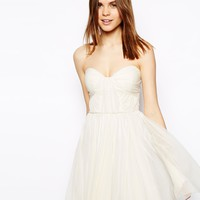 ASOS Bandeau Dress With Twisted Bodice