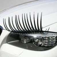 Car Headlight Eyelashes Black Carlashes Girly Accessory