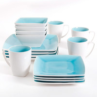 Walmart: Gibson Studio Pleasanton 16-Piece Dinnerware Set, Square