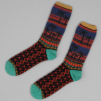 kapital - nordic palm tree socks navy