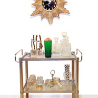 Vintage Mid Century Modern Mad Men Chrome Bar Cart