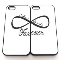 Valentines day Custom name personalized Infinity symbol phone case iPhone 5 s c Case / iPhone 4 Case / Galaxy S4 Case / Galaxy S3 Case