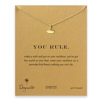 you rule crown necklace, gold dipped