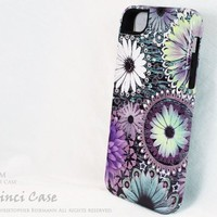 Purple Floral iPhone 5 5s Case - Tidal Bloom - Premium Floral iPhone 5 TOUGH Case