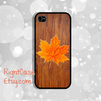IPHONE 5S CASE Wood Phone Case Maple Leaf iPhone 5 Case iPhone 4 Cases Samsung Galaxy S4 S3 Cover iPhone 5c cases iPhone 4s case Winter Case