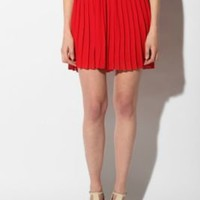 Sparkle & Fade Pleated Chiffon Miniskirt