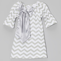 Gray Zigzag Swing Dress - Toddler & Girls | something special every day