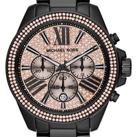 Michael Kors 'Wren' Pave Dial Chronograph Bracelet Watch, 42mm