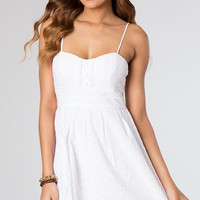 Short White Spaghetti Strap Dress