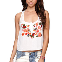 LA Hearts Cropped Embroidered Tank at PacSun.com