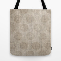 Poka dot burlap (Hessian series 2 of 3) Tote Bag by John Medbury (LAZY J Studios) | Society6